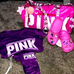LovePink Joggers W/Overnight Bag & Matching Crocs